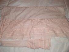 Pottery Barn Kids Crib Skirt Dust Ruffle Pastel Pink ORGANIC cotton LkNW