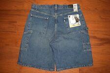 DEADSTOCK SilverTab 657 - CARPENTER STYLE  Blue Jean Shorts - Men Size 38 - NWT