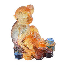 Liuli Crystal Chinese Zodiac Monkey Ornament Table Decorations Christmas Gifts