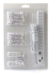 Dolls House Lighting Wiring Kit Socket Power Strip Extensions Plugs 11 Piece Set