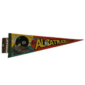 "VTG Alcatraz The Rock San Francisco Bay CA Souvenir Pennant Flag 27"" w/ Tag"