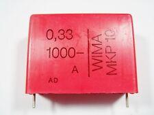 1x 0,33uf 330nf 1000vdc 1kv WIMA MKP10 Folios Condensador #9f01