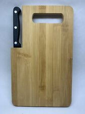 """Bambo Cutting Board with Built-In Knife 10""""x6"""""""