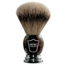 Parker Safety Razor Silvertip Badger Shave Brush with Handsome Faux Horn Handle