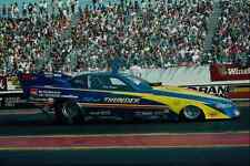 metal sign 573022 blue thunder is what this powerful funny car produces a4 12x8