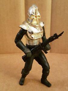 1978 Gold Cylon Commander + Rifle Blaster Vintage Galactica Original Mattel RARE