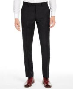 MSRP $175 Bar Iii Men's Slim-Fit Black Stripe Suit Separate Pants Size 34X30