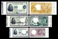 2x  25, 50, 100 Pesetas - Issue 1899 - 1900 Quevedo - Reproduction - 34
