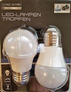 TEC STAR LED Lampe Tropfen 5 W (40W), 470 Lumen, E27