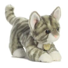 "L@@K Aurora Grey Tabby Kitten 9"" Long 26240 Stuffed Animal Soft Baby Toy NEW !!"