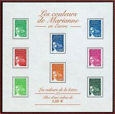 2002 FRANCE BLOC N°45** LES COULEURS DE MARIANNE / France 2002 SHEET MNH