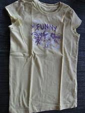 TCM Shirt T-Shirt Gr. 110/116 Longshirt Kurzarm grün/gelb, Funny, sehr schön
