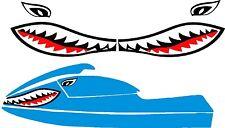 SEA DOO YAMAHA KAWASAKI JET SKI STAND UP PWC JAWS MOUTH SHARK DECAL 550 750 800