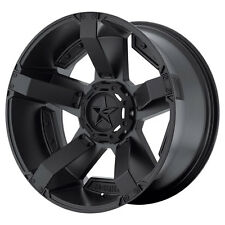 20x10 Black wheels XD811 Rockstar 2 LIFTED JEEP WRANGLER 2007-2017 5X5 -24mm