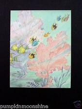 Unused Louise Howe Ewing Greeting Card Underwater Tropical Fish & Coral