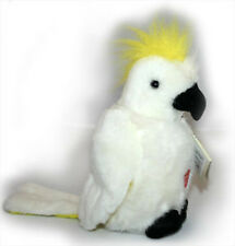 NEW PLUSH SOFT TOY Australian Yellow Sulphur Crested Cockatoo with Song Sound