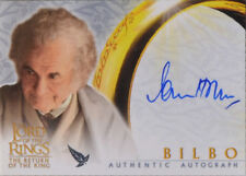 Bilbo Ian Holm Return King Lord Rings LotR Auto Autograph Trading Card RotK