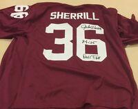 Jackie Sherrill  Autographed Alabama Crimson tide Jersey Jsa Xl