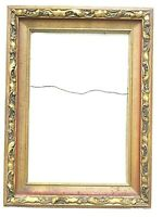 "Vintage Wood Decorative Gold Ornate Picture Frame 16.5"" x 22.5"""