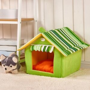 New Fashion Striped Removable Cover Mat Dog House Dog Beds For Small Medium Dogs
