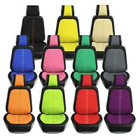 Universal Fit Ultra Car Seat Cushions with Colorful Stitching - Front Set
