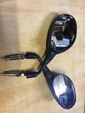 Pair Mirrors 8mm Black Rectangle L /& R Fits Honda NSC110 Vision