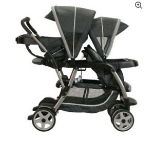 Graco Ready2Grow Click Connect LX Double Stroller *Black* New