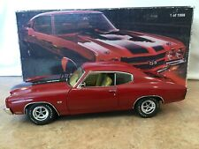 """1/18 Exact Detail 1970  CHEVELLE SS 454 LS"""" in Bright Red"""
