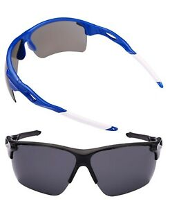 2 Pair of Extra Large Polarized Sport Wrap Sunglasses for Men with Big Heads