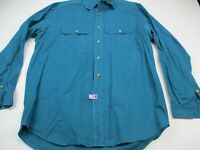 Vintage Cabela's Long Sleeve Button Shirt Size Adult Green XL Cotton Button Up