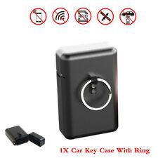 Aluminum Alloy Car Key Signal Blocker Case Box w/ Ring Fob Keyless RFID Blocking