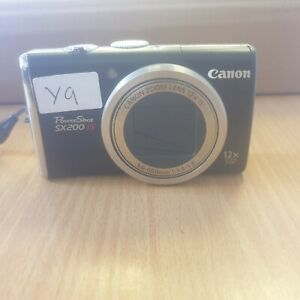 Canon PowerShot SX200 IS 12.1MP Digital Camera - Black (Y9)