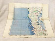 1940 WW2 Military Map of Germany Flensburg Allied Forces RAF Aviation Flight