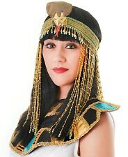 Deluxe Cleopatra Egyptian Queen Beaded Asp Headdress Fancy Dress Costume