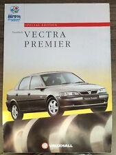VAUXHALL VECTRA PREMIER SPECIAL EDITION RANGE 1996 CAR BROCHURE. SALOON & HATCH
