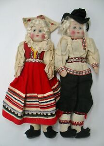 Vintage 1930s Stockinette Estonian Couple Kimport