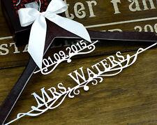 Personalized Wedding Hanger Bridal Hanger, Bride Name Hanger, Dress Hanger EL008