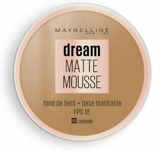 MAYBELLINE Foundation + Primer Dream Matte Mousse 40 FAWN/CANNELLE - NEW Carded