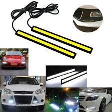 2x Super Bright COB White Car LED Lights for DRL Fog Driving Lamp Waterproof 12V