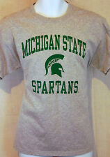 michigan state spartans college university sports gray large T shirt