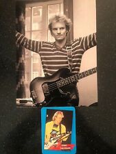 GENUINE STING SIGNED 'POLICE' COLLECTION CARD WITH PRINT