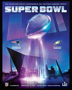 Super Bowl 52 (2018) Eagles vs Patriots Art Print -  8x10 Color Photo