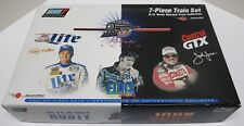 Elvis Presley John Force/Rusty Wallace 7pc Train Set Very Rare Limited Edition!