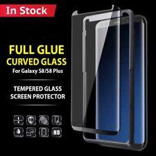 Pellicola Vetro Temperato Curvo 3D Per Samsung Galaxy S9 S8 S9 PLUS FULL GLUE