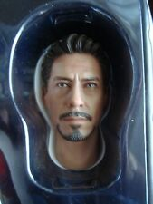HOT TOYS 1/6 IRONMAN MARK IV TONY STARK HEAD SCULPT W/NECK POST -- -us seller