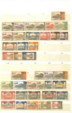 [OP9540] Gabon lot of stamps on 12 pages