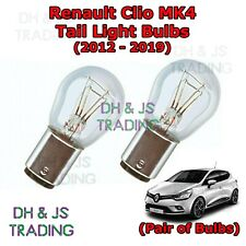 Renault Clio Tail Light Bulbs Pair of Rear Tail Light Bulb Lights MK4 (12-19)