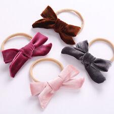 Lovely Velvet Headbands for Baby Girls Cute Bows Nylon Elastic Headband For Kids