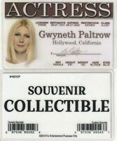 Gwyneth Paltrow plastic collectors ID card Drivers License Pepper Potts Iron Man