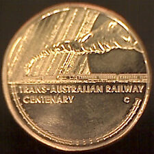 2017 $1 Trans Australian Railway 'C' Canberra Mintmark Coin:Unc